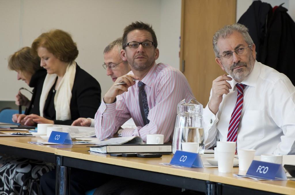 Sir Bob at the weekly Permanent Secretaries' meeting.
