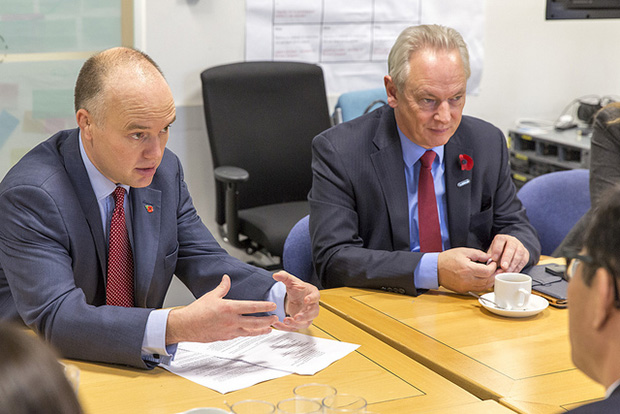 Liam Maxwell, HMG Chief Technology Officer, and the Rt Hon Francis Maude, Minister for the Cabinet Office