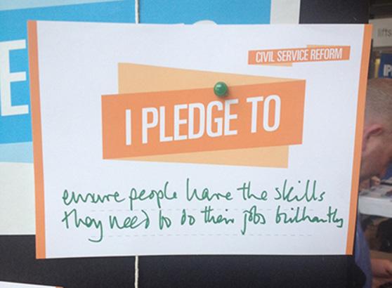 Civil Service Live Pledge, Bristol 2014